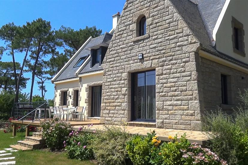 terrasse maison de vacances erdeven