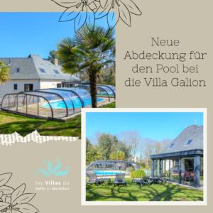 Neue Abdeckung für das Schwimmbad in der Villa Galion