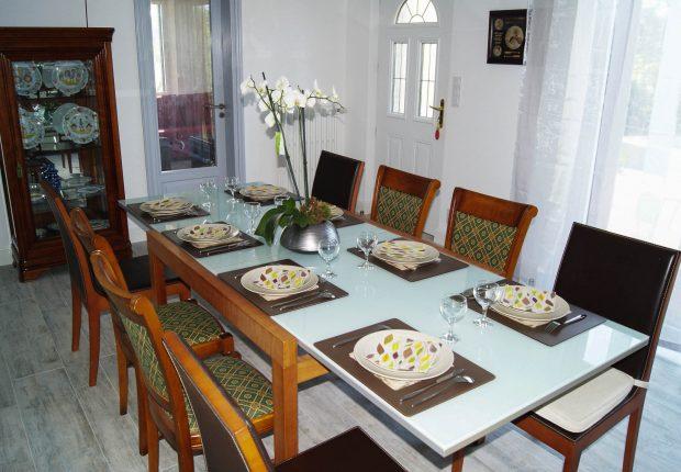 table familiale villa la Caravelle morbihan