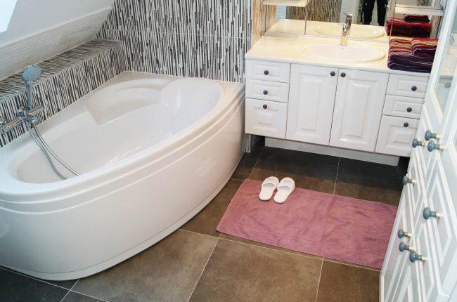 salle de bain maison de vacances morbihan