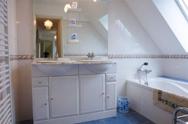 salle de bain villa goelette vacances morbihan