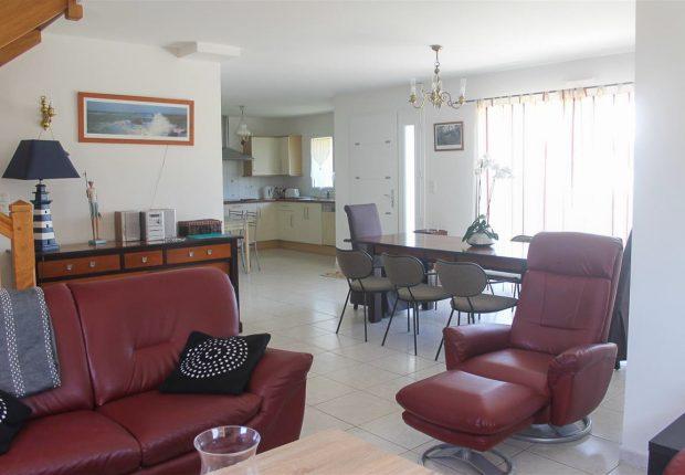 salon villa goelette maison vacances morbihan