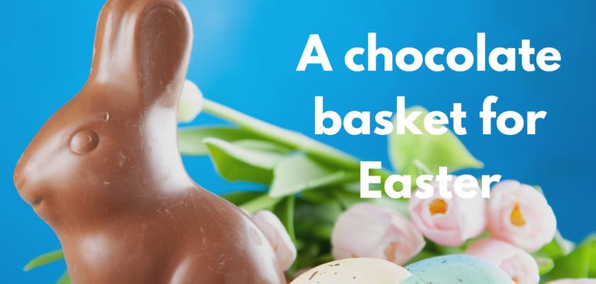 chocolate basket easter britanny