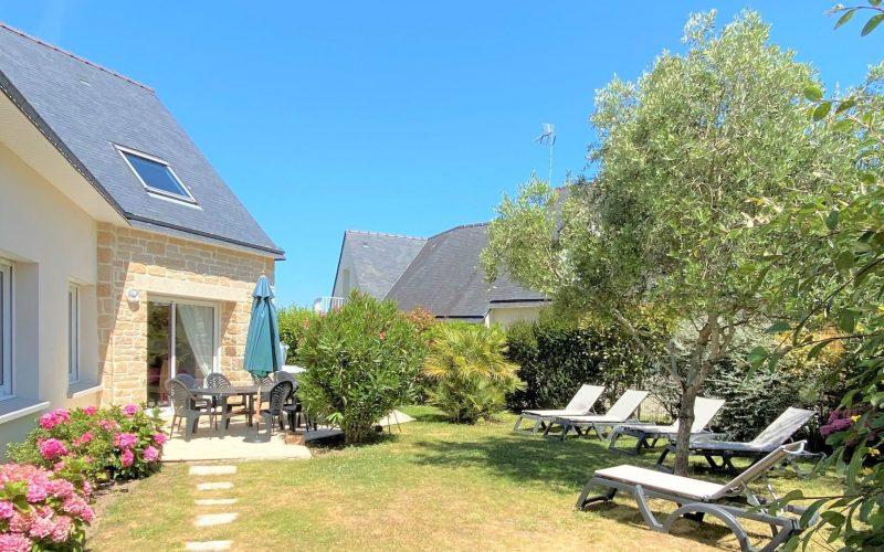 Jardin villa le clipper Erdeven proche de la plage